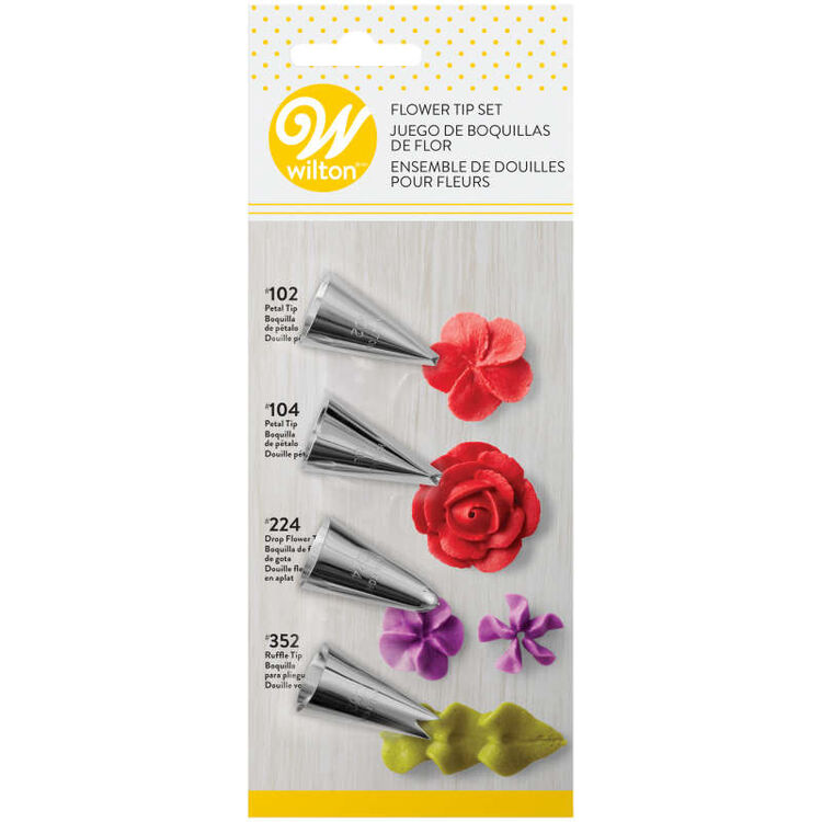 Flower Decorating Tip Set, 4-Piece