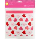 Valentine's Day Conversation Heart Resealable Treat Bags, 20-Count