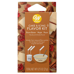 Brown Butter, Maple and Pecan Cake and Icing Flavor Kit, 3-Piece