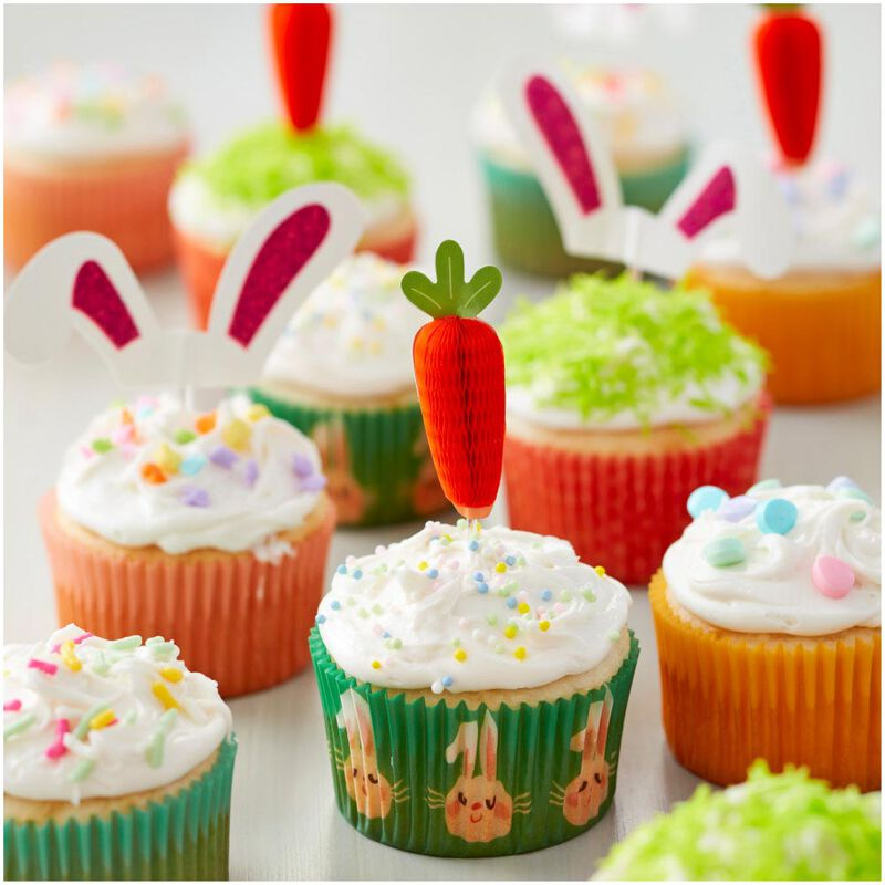 Honeycomb Carrot Cupcake Toppers 12-Count image number 3