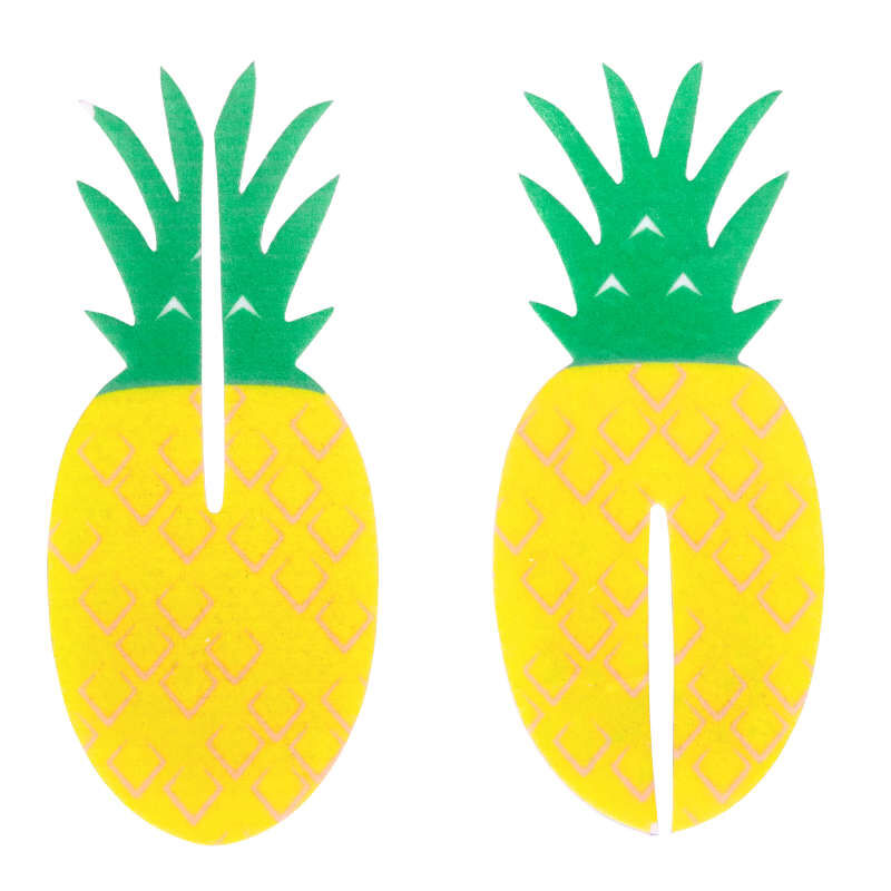 Tropical Party Pineapple 3-D Cupcake Toppers, 12-Count Decorations image number 0