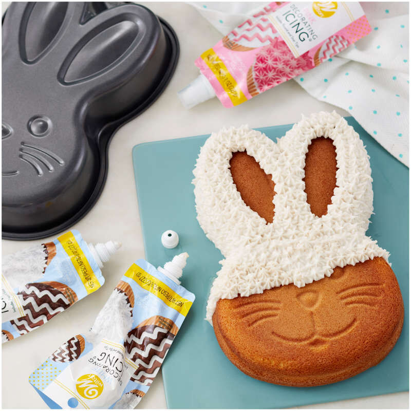 Easter Bunny Cake Baking and Decorating Set, 5-Piece image number 4