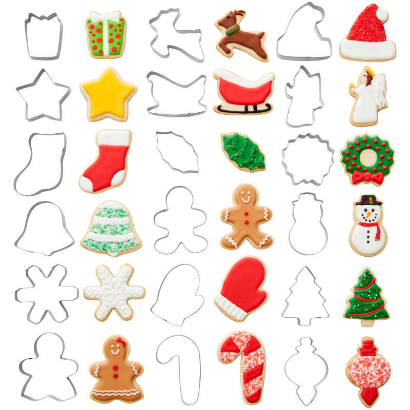 Holiday Shapes Metal Cookie Cutter Set, 18-Piece image number 0