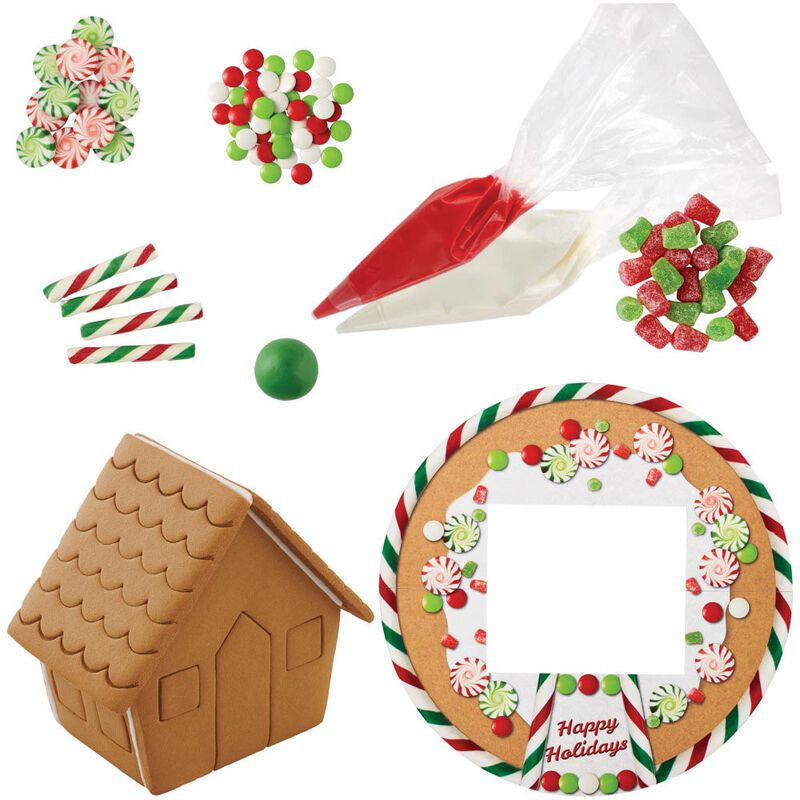 Ready to Decorate Big, Bright and Giant Gingerbread House Decorating Kit image number 2