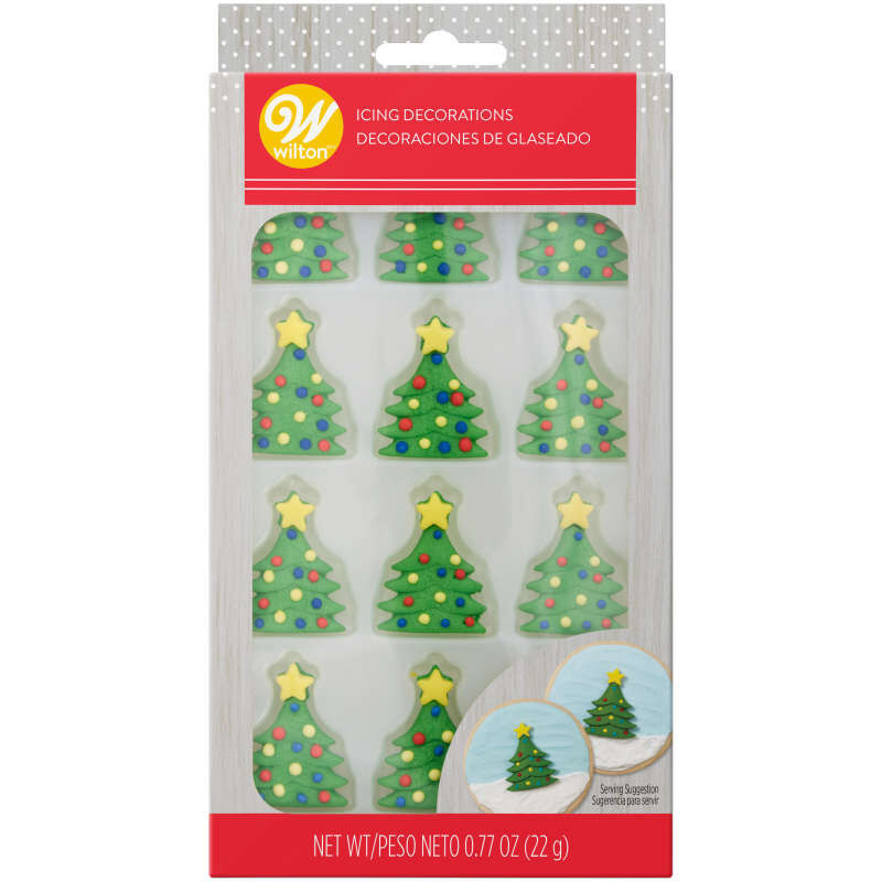 Christmas Tree Royal Icing Decorations, 12-Count image number 0