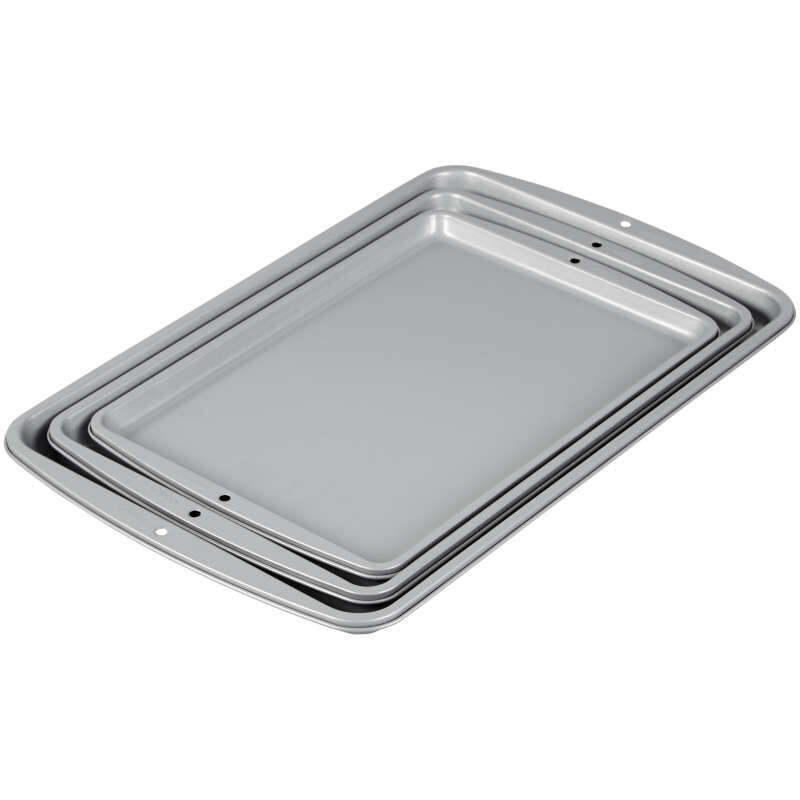 Recipe Right Non-Stick Cookie Sheet Set, 3-Piece image number 2