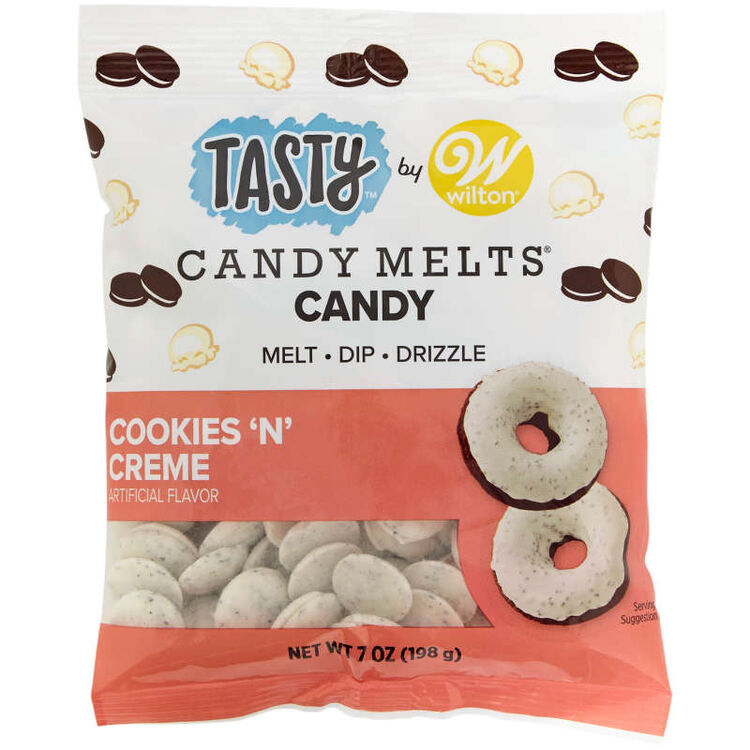 Tasty by Cookies 'N Creme Candy Melts Candy, 7 oz.