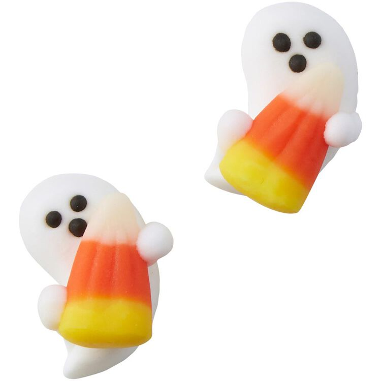 Ghost with Candy Corn Icing Decorations, 12-Count