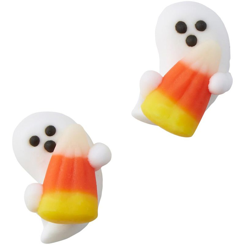 Ghost with Candy Corn Icing Decorations, 12-Count image number 0
