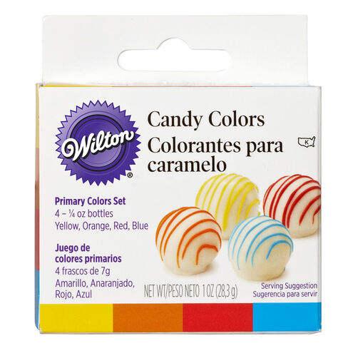 Candy Decorating Primary Colors Set, 1 oz. | Wilton