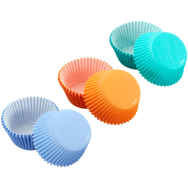 Teal, Orange and Purple Standard Baking Cups, 75-Count image number 1