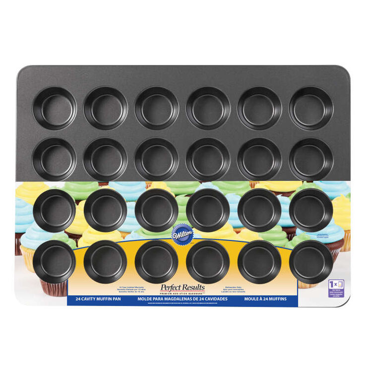 Perfect Results Premium Non-Stick Bakeware Mega Muffin and Cupcake Baking Pan, 24-Cup