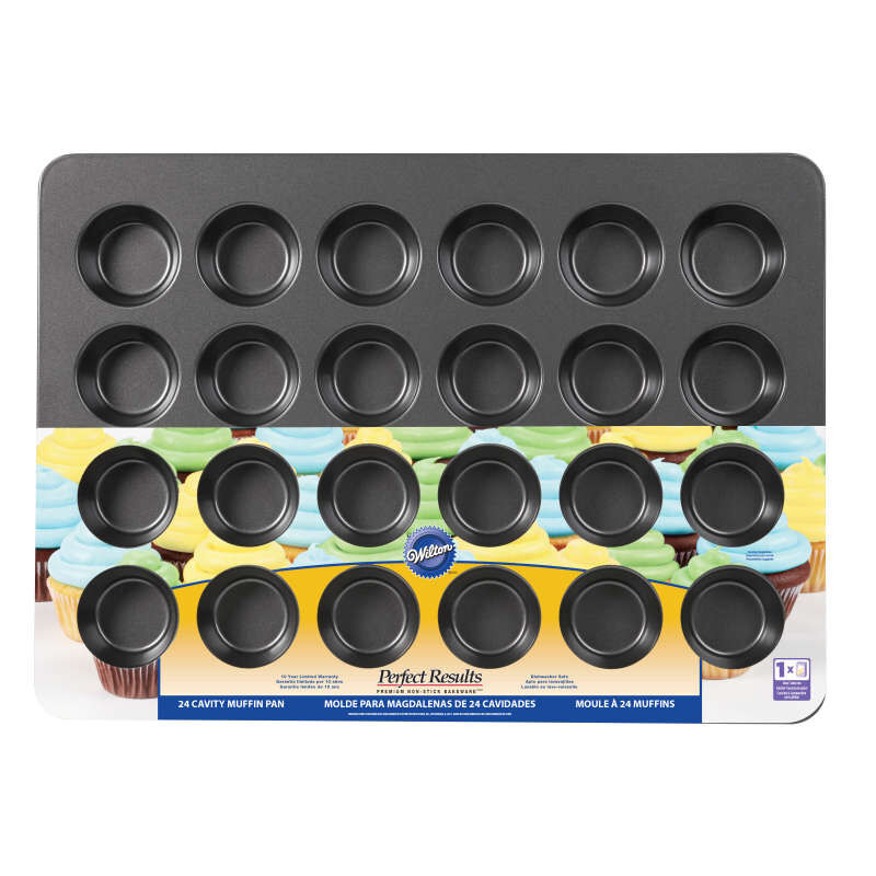 Perfect Results Premium Non-Stick Bakeware Mega Muffin and Cupcake Baking Pan, 24-Cup image number 1