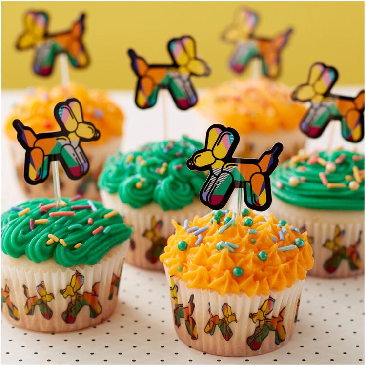 Balloon Dogs and Solid Orange Cupcake Liners, 75-Count