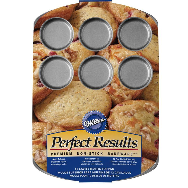 Perfect Results Premium Non-Stick Bakeware Muffin Top Pan, 12-Cup image number 2