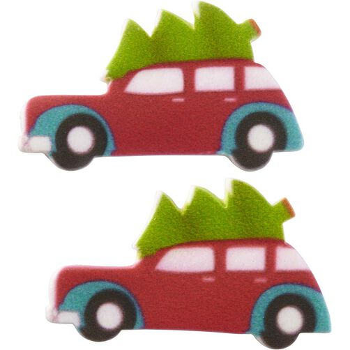 Christmas Tree Shop Connecticut: Wilton Car With Christmas Tree Royal Icing Decorations, 12