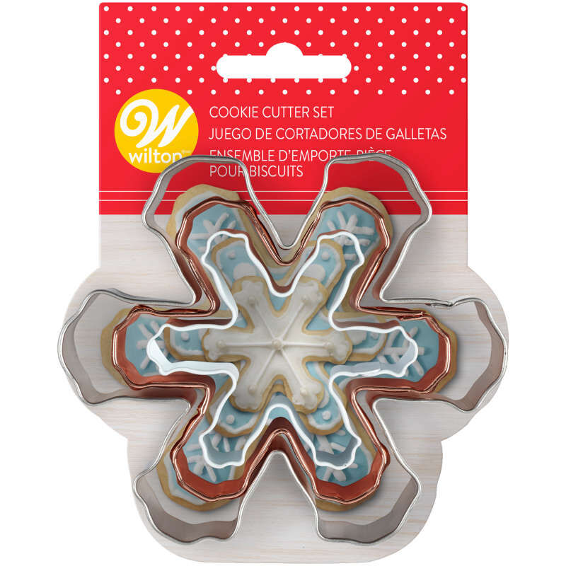 Snowflake Cookie Cutter Set, 3-Piece image number 1