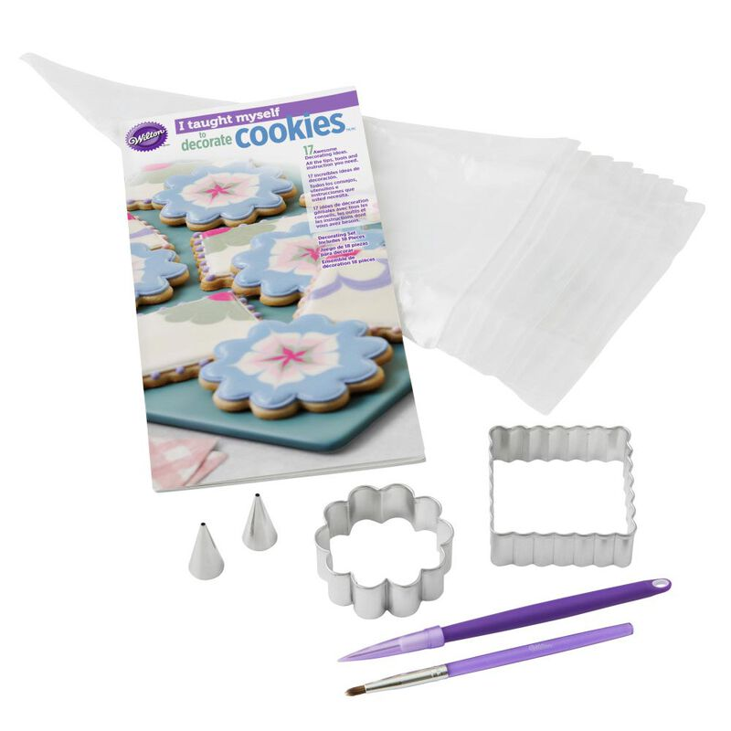 """I Taught Myself To Decorate Cookies"" Cookie Decorating Book Set - How To Decorate Cookies image number 0"