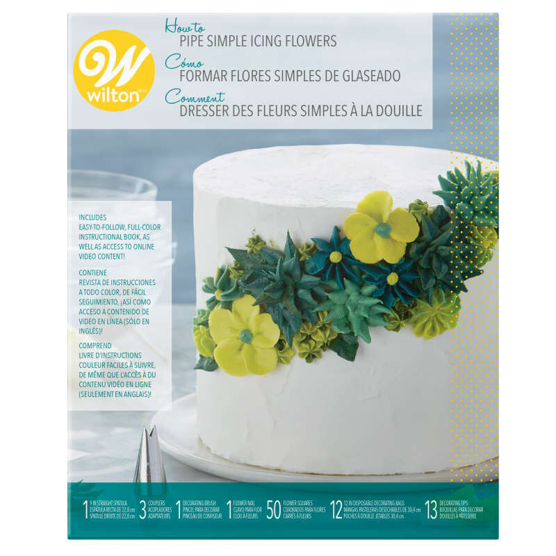 How to Pipe Simple Icing Flowers Cake Decorating Kit, 68-Piece image number 1