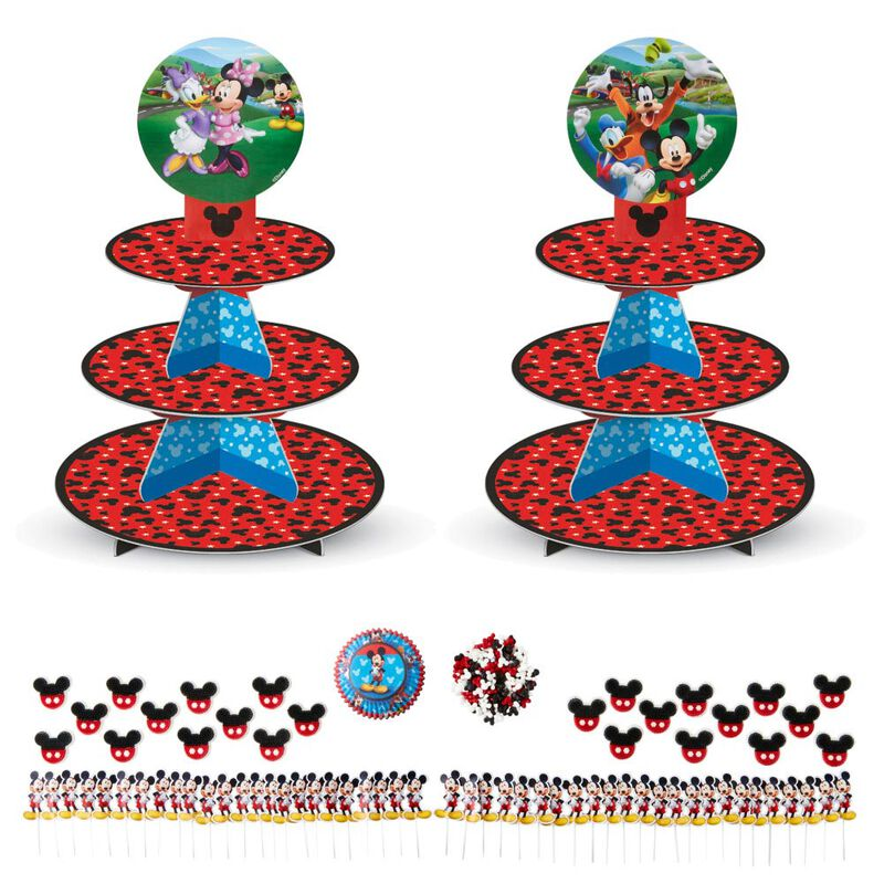 Mickey and The Roadster Racers Birthday Cupcakes Party Pack, 8-Piece image number 0
