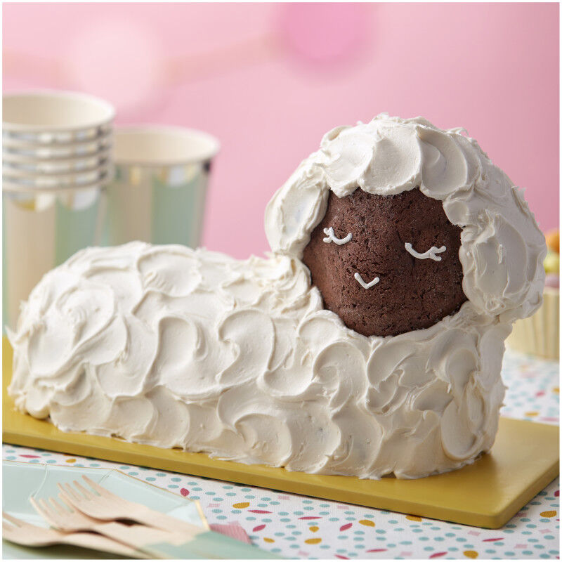 3-D Stand-Up Lamb Cake Pan Set, 2-Piece image number 3