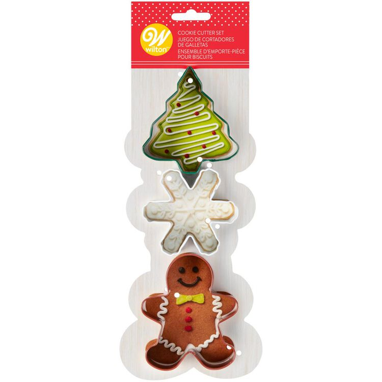 Holiday Cookie Cutter Set, 3-Piece