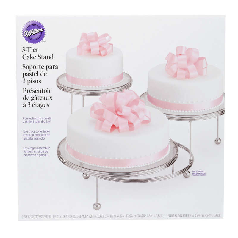Cakes 'N More 3-Tier Cake Stand, Chrome image number 1
