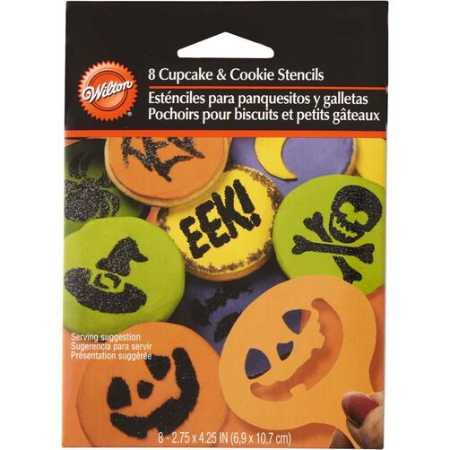 Halloween Cupcake and Cookie Stencils