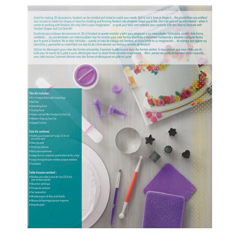 How to Decorate with Fondant Shapes and Cut-Outs Kit, 14-Piece