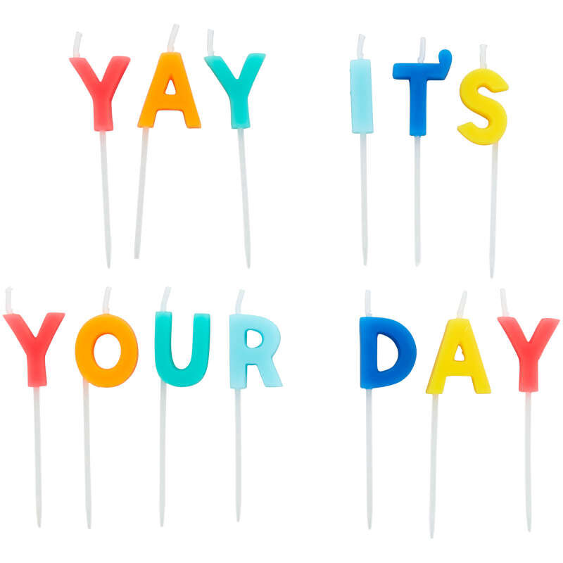 """""""Yay It's Your Day"""" Birthday Candle Pick Set, 13-Count image number 0"""