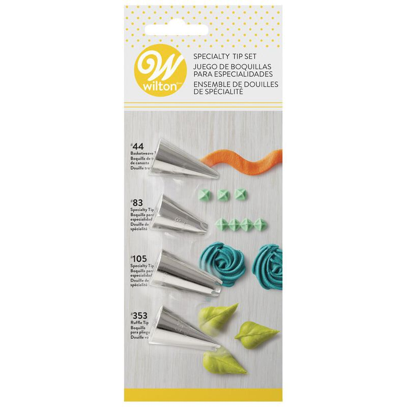 4-Piece Specialty Icing Tip Set image number 0