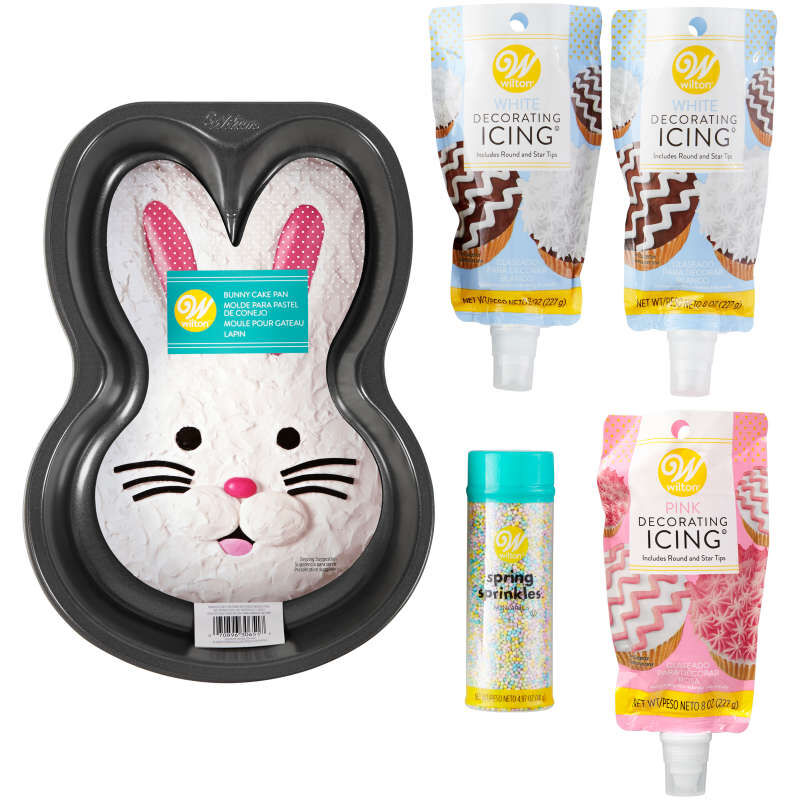 Easter Bunny Cake Baking and Decorating Set, 5-Piece image number 6