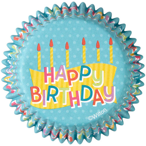 Happy Birthday Cupcake Liners 50 Count