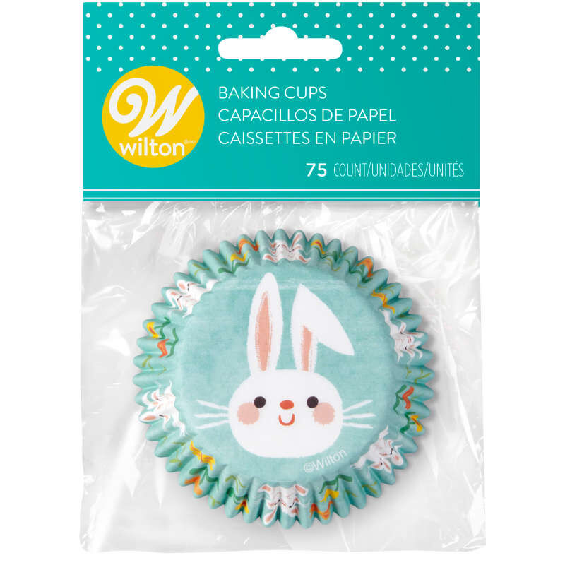 Easter Bunny Cupcake Liners, 75-Count image number 1