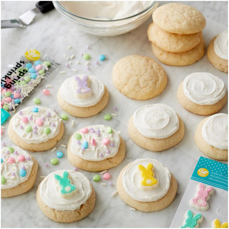 Pastel Bunny Icing Decorations, 12-Count image number 3