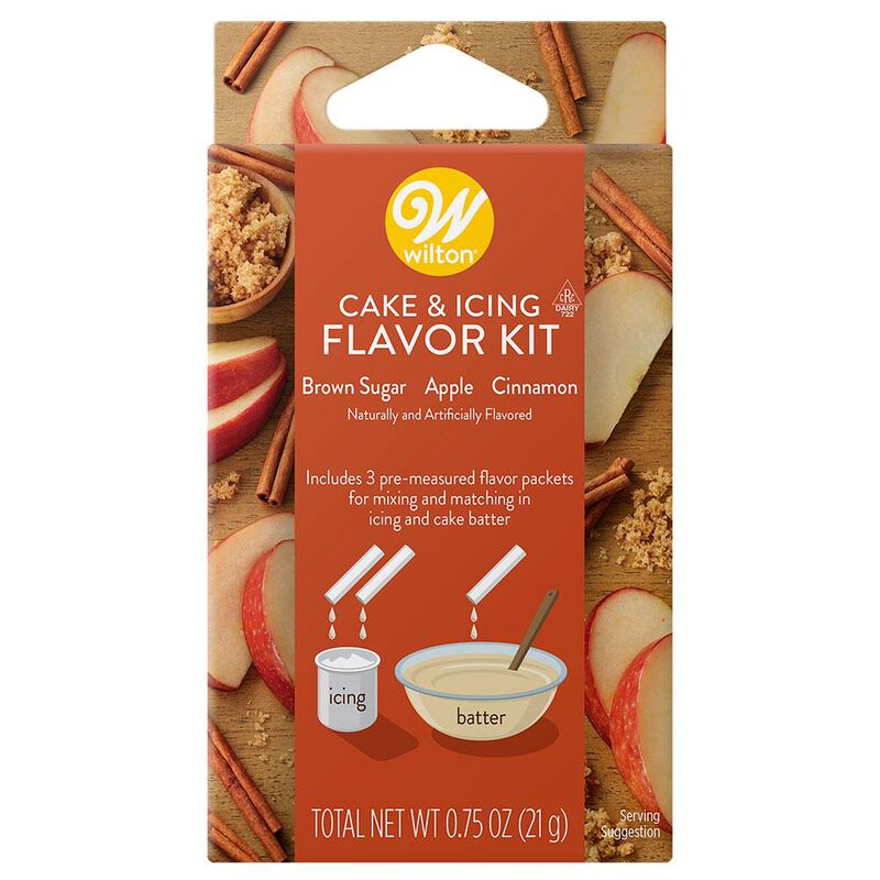 Brown Sugar, Apple and Cinnamon Cake and Icing Flavor Kit, 3-Piece image number 0