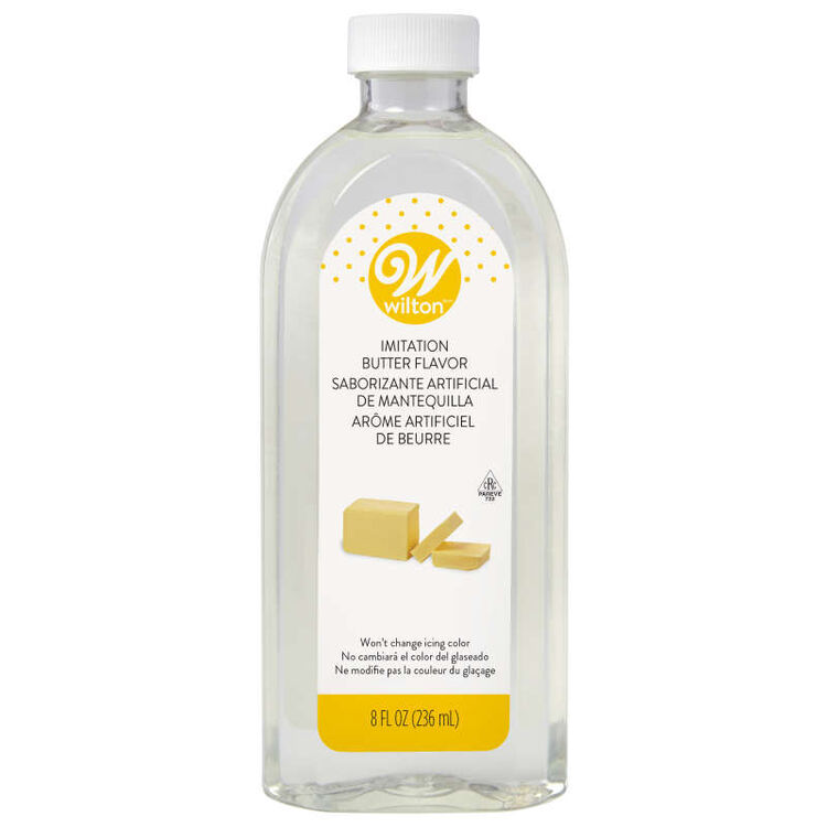 Clear Imitation Butter Flavoring Extract, 8 oz.