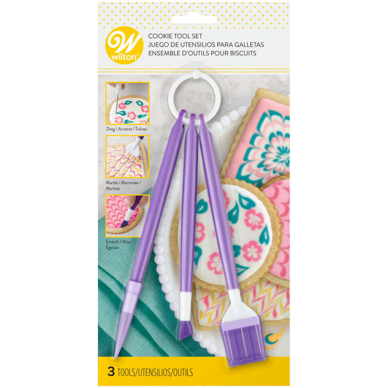 Cookie Decorating Tool Set, 3-Piece Cookie Decorating Supplies image number 1