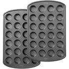 Perfect Results Premium Non-Stick Bakeware 24-Cup Mini Muffin Pan, Multipack of 2