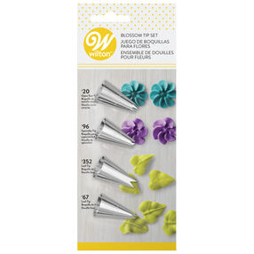 4-Piece Flower Icing Tip Set