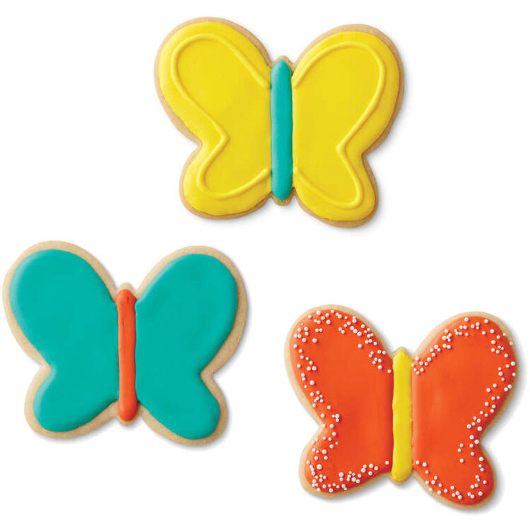 Teal Grippy Butterfly Cookie Cutter