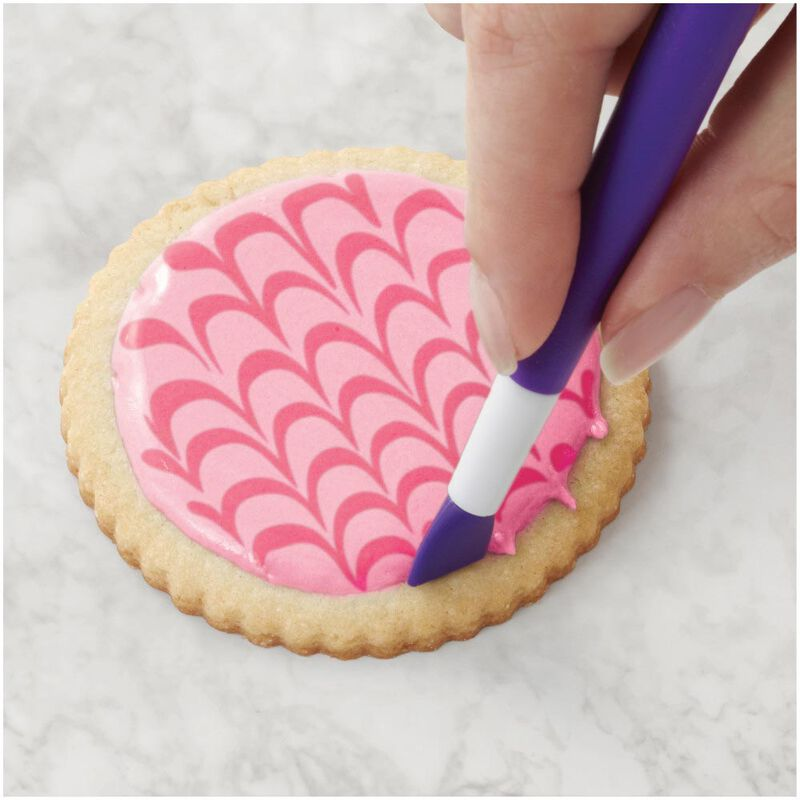Sugar Cookie Decorating Kit, 15-Piece - Tool Set, Meringue Powder, Icing Colors and Decorating Bottle image number 7