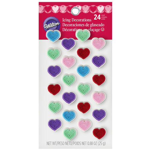 Confetti Heart Icing Decorations