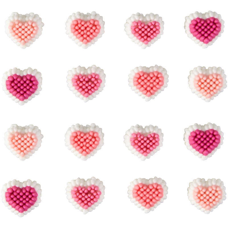Mini Heart Candy Decorations Out of Packaging image number 1