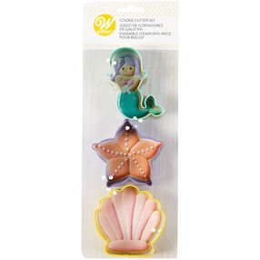 Mermaid Cookie Cutter Set, 3-Piece
