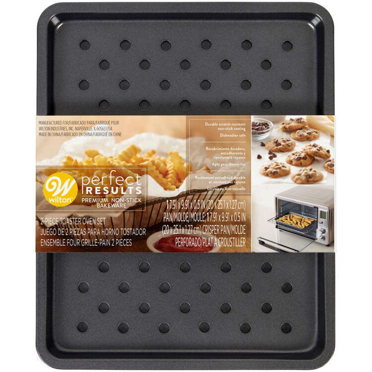 Perfect Results Sheet Pan and Crisper Toaster Oven Set, 2-Piece