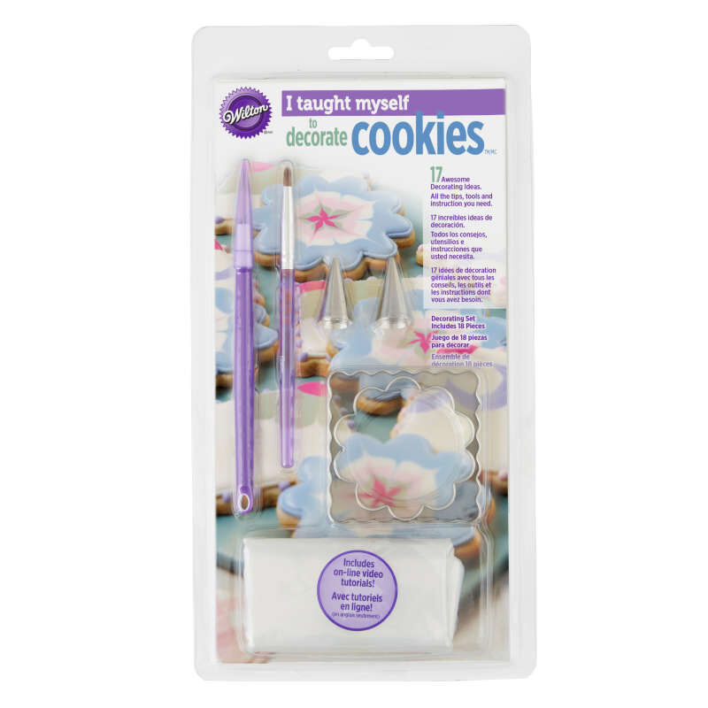 """""""I Taught Myself To Decorate Cookies"""" Cookie Decorating Book Set - How To Decorate Cookies image number 2"""