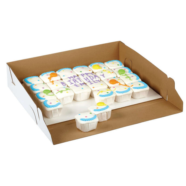 Birthday Cupcakes in Cake Box