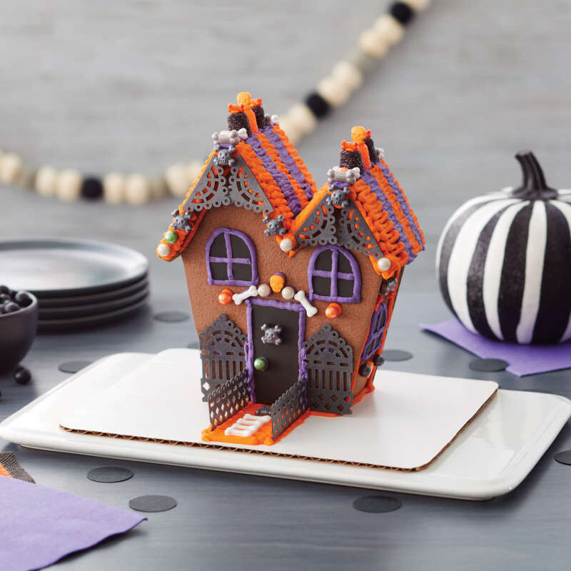 Ready-to-Build Chocolate Cookie Haunted House Kit, 15-Piece image number 4