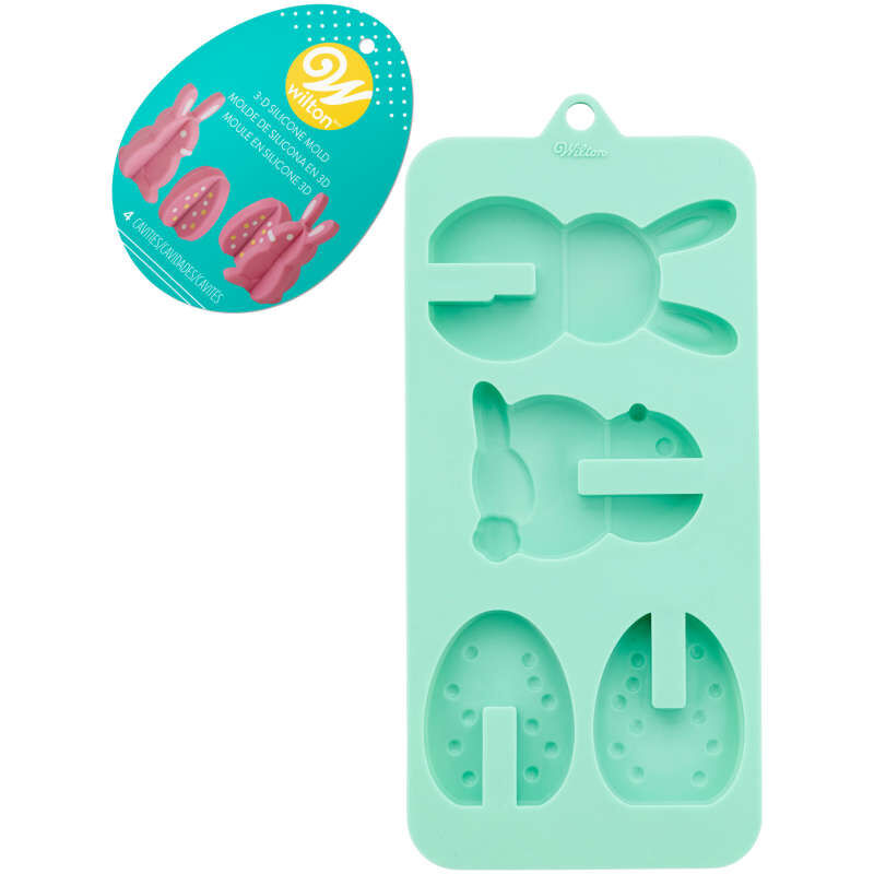 3-D Easter Silicone Candy Mold, 4-Cavity image number 3